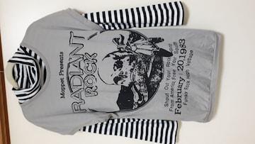 ドクロデザインロングTシャツ ボーダー柄長袖セット