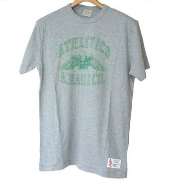 新品◆AmericanEagle グレーイーグルロゴTシャツ(S)