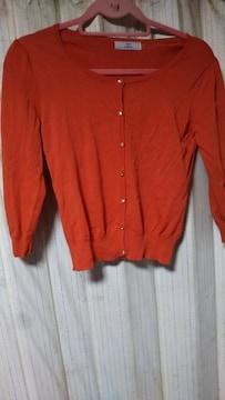 未使用 バープル、オレンジ カーディガン 2点。7〜8分袖くらい