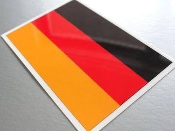 1□ドイツ国旗ステッカー☆1枚即買☆耐水 ワーゲン アウディに