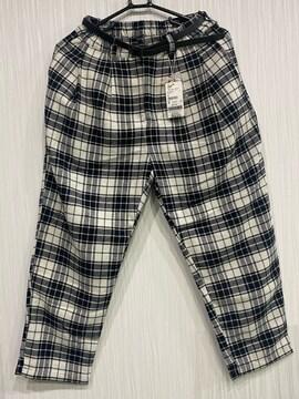 レトロガール 白黒チェック パンツ  M 未使用タグ付き新品☆