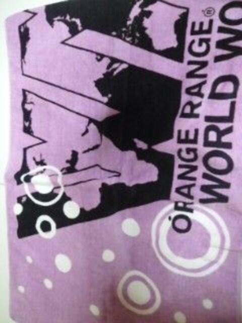 新品ORANGE RANGE LIVE TOUR 009-010 WORLD WORLDタオル  < タレントグッズの