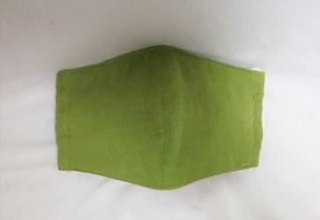 即決◆綿ガーゼ・抹茶グリーン色◆ファッションマスク