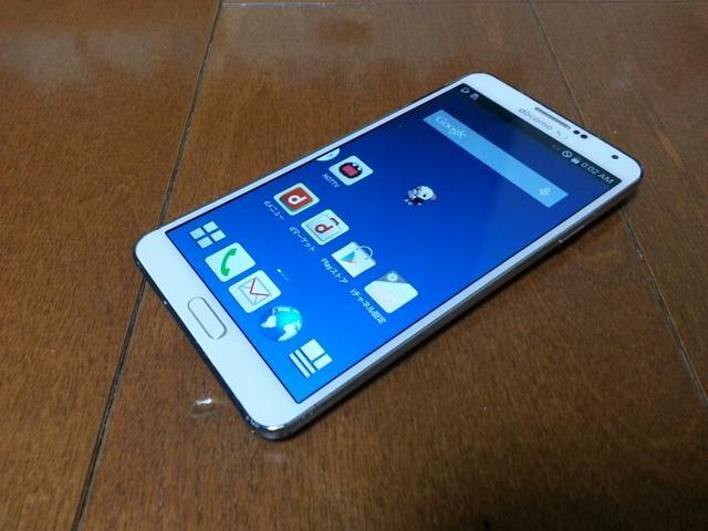 即落/即発!!美中古品 SC-01F Galaxy Note 3 ホワイト LTE Xi  < 家電/AVの