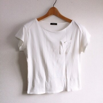 ◆COMME CA ISM/コムサイズム◆シンプル無地Tシャツ★ホワイトM*美品♪