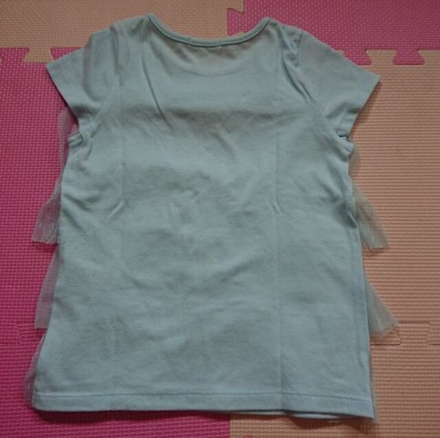 GU☆フリルTシャツ☆size110☆水色 < ブランドの