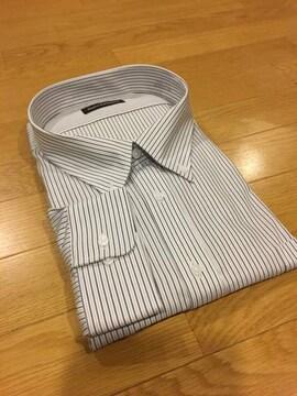 MARIO ESPERANZA  ビジネスストライプYシャツ  グレー size8LB  6