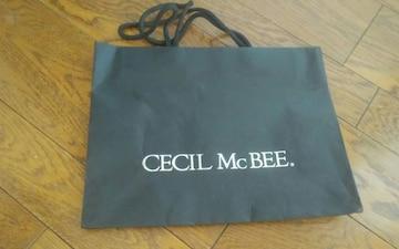 CECIL Mc BEE ショップ袋 29×22 美品