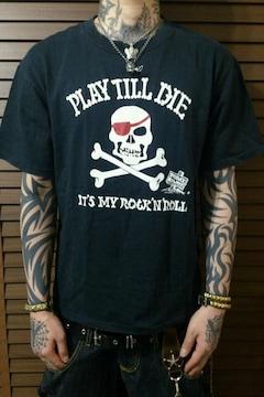 即決DEADパイレーツスカルTシャツ!パンクロックロカビリーバイカーブランキージェットシティ