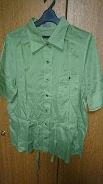 セピア★F2 (15号)シャツ★緑