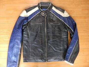 アメリカ ウィルソンズレザー ライダースジャケット S
