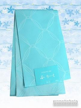【和の志】浴衣に合わせて◇半幅帯◇水色系・幾何学◇GO-585