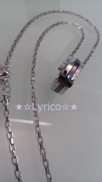送込み♪メッセージRING☆BLACKクロスネックレス☆  < 男性アクセサリー/時計の
