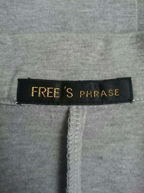 FREE'S PHRASE/フリーズフレーズ☆ジャケット風カーディガン★長め丈☆ < ブランドの