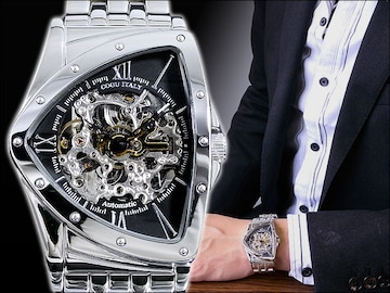 コグフルスケルトン自動巻腕時計 BS0TM-BK