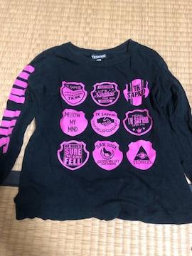 TK SAPKID/ロンT/長袖Tシャツ/ブラック×ピンク/110cm