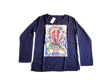 新品 定価2980円 ASIA エスニック 象 ガネーシャ  Tシャツ