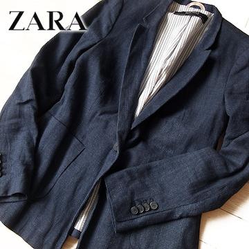 美品 (EUR)S ZARA BASIC ザラ レディース ジャケット ネイビー