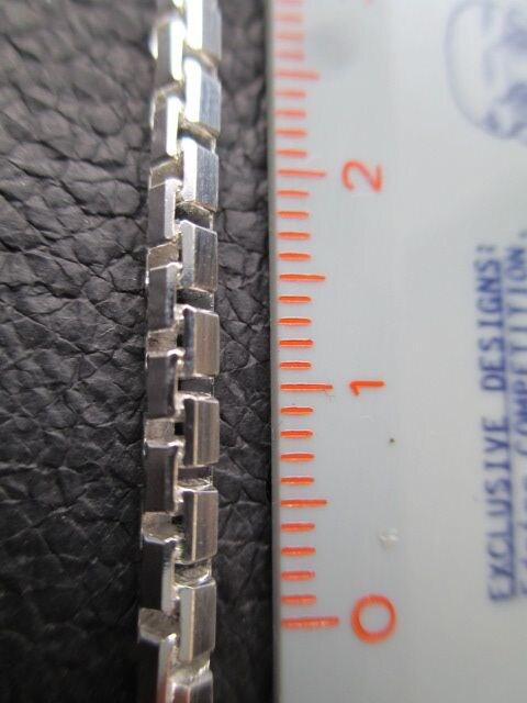 イタリア製シルバー925チェーン 3.2mm 40cm18.5g *SideBox060 < 男性アクセサリー/時計の