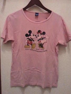 Disney ミッキー&ミニー☆半袖Tシャツ(ピンク色)
