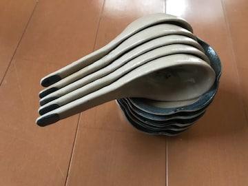 お鍋用 小皿とれんげ 5客セット 未使用自宅保管