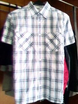 UNITED ARROWS■ネイティブ柄チェックシャツ■BLUE LABEL