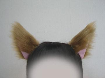 コスプレ小物★猫耳&尻尾セット★ブロンド