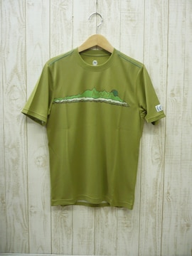 即決☆マーモット プリントTシャツ OLV/M 速乾 UV 新品