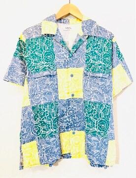 KENZO■オープンカラーシャツ■パッチワーク■花柄■ケンゾー