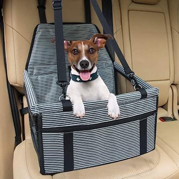 色ネイビー 車用ペットシート ペット用ドライブボックス ペット
