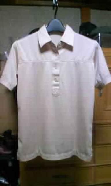 古着 ヴィンテージ 半袖ポロシャツ Sサイズ ベージュ 無地 ボーリングシャツ ユーズド  < 男性ファッションの