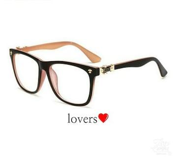 送料無料ブラック黒クロムシルバークロス十字架めがねメガネ眼鏡