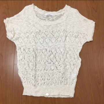 ローリーズファーム*半袖サマーニット*透かし編み