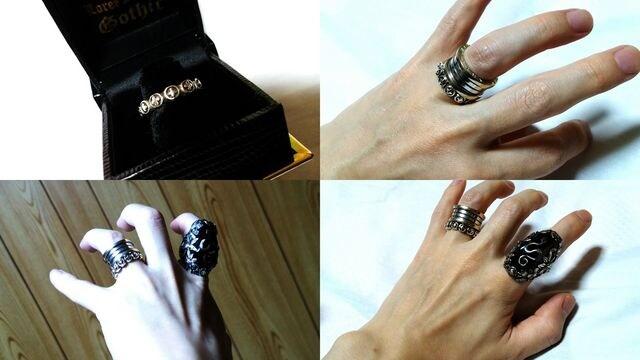 正規美 Loree Rodkinローリーロドキン ゴシックナローファンシークロスリング13号 指輪 < ブランドの
