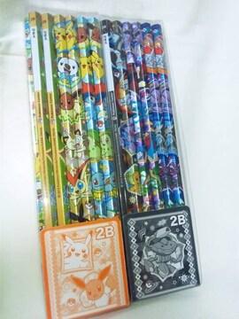 【ポケモンセンター☆オリジナル】鉛筆☆2Bセット☆6柄24本☆プレゼントにも♪
