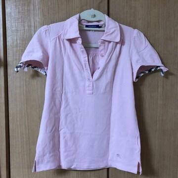 バーバリー BURBERRY ブルーレーベル ピンク ポロシャツ