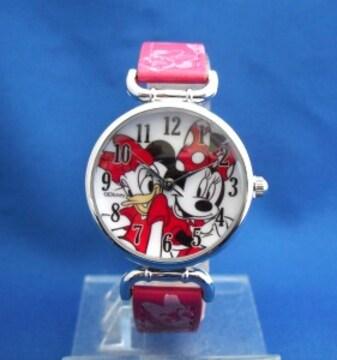 ミニーちゃんとデイジーダックの腕時計ーディズニー