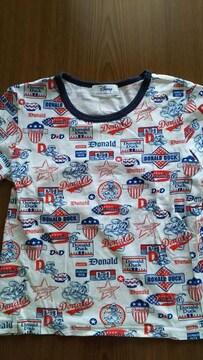 ディズニー・ドナルドダックの半袖Tシャツ