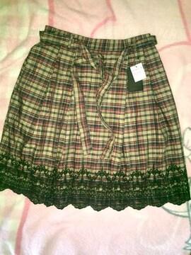 #新品#ギンガムチェック裾刺繍も可愛いスカート4L