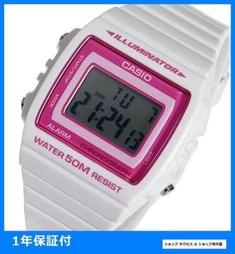 新品 即買い■カシオ 腕時計 W-215H-7A2 ピンク/ホワイト