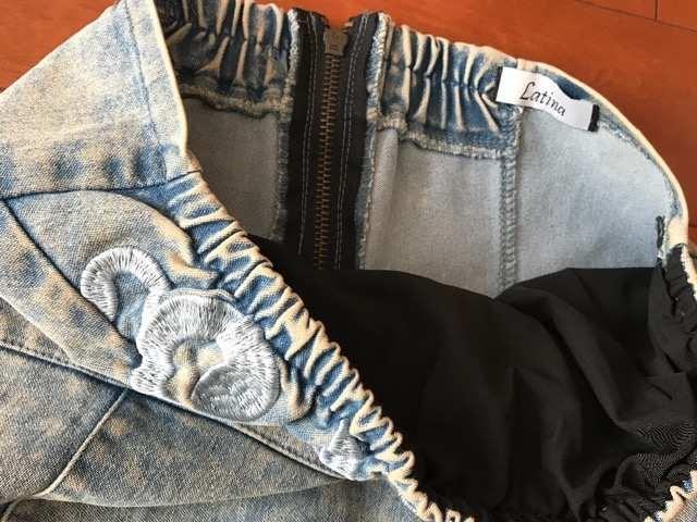 ANAP Latina ウォシュ デニム 刺繍ワンピース < ブランドの