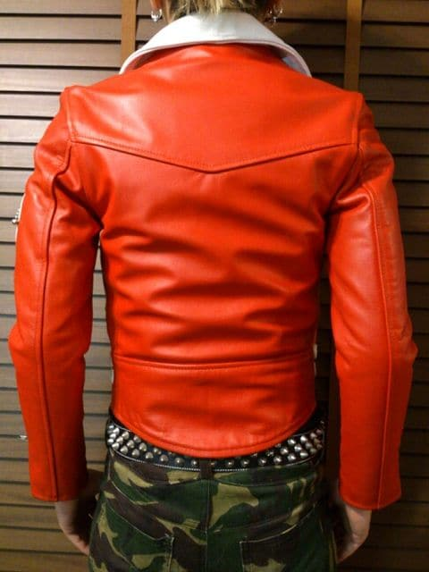 即決FxxK日章旗レザーカラーライダースJKT!ハードコアクラストoiパンクSARALEIGH666 < 男性ファッションの