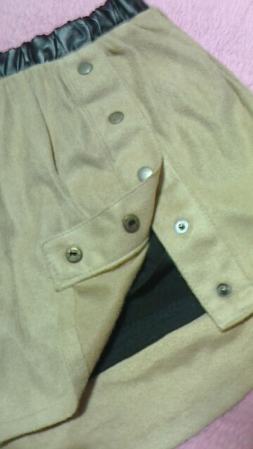 グラマラスジェーンGLAMOROUS JANE/スエード地シャツ風ミニスカート < ブランドの