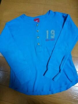 ☆新品同様☆ボブソン☆ブルー長袖シャツ☆120