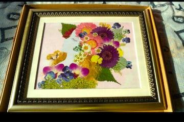 日本製 日本の芸術家の手作り押し花 美人画 未使用