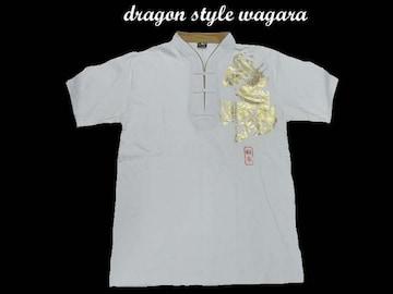 新品 和柄 ヤンキ・b系・チカノスタイルシャツ D13(XL) 白