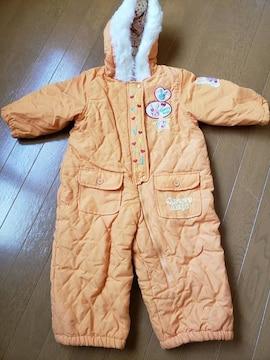 ☆新品同様☆オレンジジャンプスーツ☆90