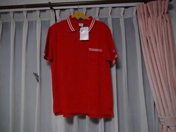 チヤンピオンのポロシャツ(L)赤新品タグ付き!。