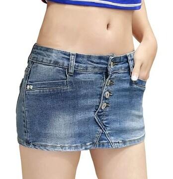 ミニスカート風★デニム★ショートパンツ(XLサイズ)