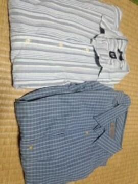 ブルー系長袖シャツ 2枚セット